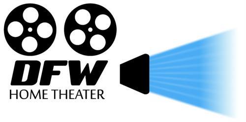 White DFW Home Theater logo