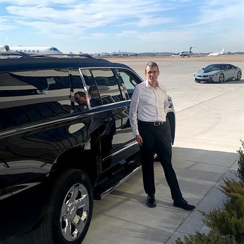 Shawn Gray Owner Tarmac Pickup FBO Private Jet in Suburban