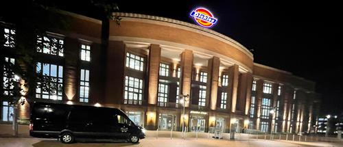 Sprinter Party Bus at Dickies Arena Fort Worth