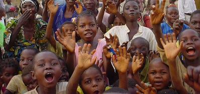 Children who are a part of the Children's CHE in Congo.