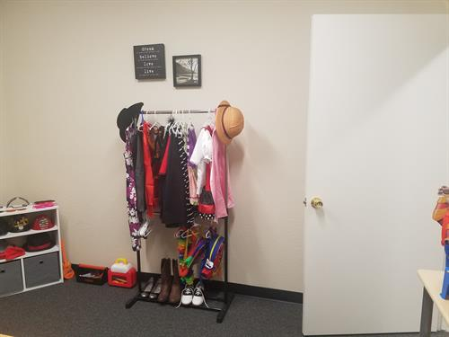 Play therapy room- dress-up