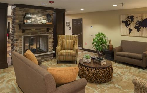 Cozy environment for families to visit with loved ones