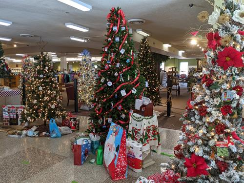 Trees, trees, and more trees! Don't forget to stop by the Visitor Center at Natural Bridge State Park to view the Festival of Trees with their variety of creative decorations.