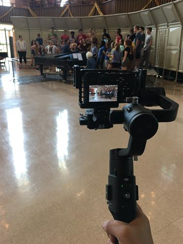 Filming a choir at Lutheran Summer Music in Valpraiso, IN.