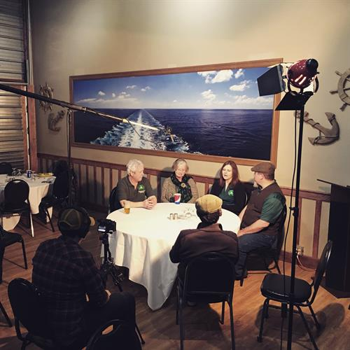 Interviewing members of the Shamrock Club in La Crosse, WI.