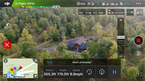 Capturing aerial shots of the Timber Baron Inn Bed & Breakfast in Bayfield, WI.