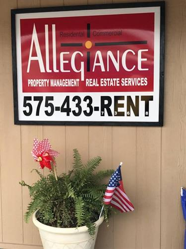 Allegiance Property Management & Real Estate Services - Front Sign