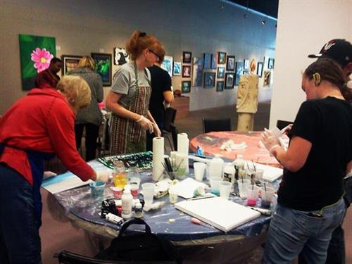 Pour Painting Acrylic workshop