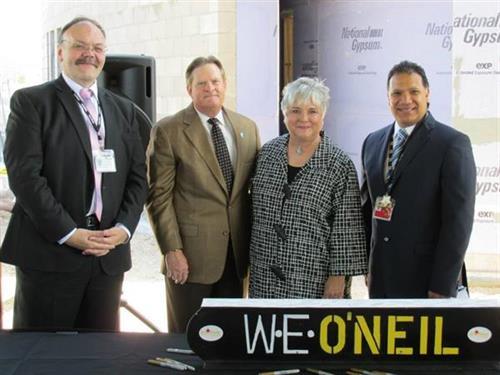 Patrick Leckrone, Mayor Sam Cobb, Governor Gay Kernan, General Manager Rafael Verde