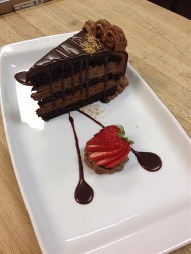 Sosa's Triple Chocolate Mousse Cake - only at the Centennial Steakhouse