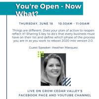 You're Open - Now What? Webinar