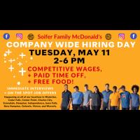 McDonald's COMPANY WIDE HIRING DAY
