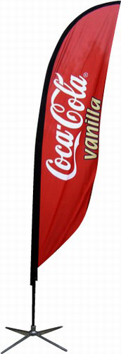 Feather Flags: Full color one or two sided - Many shapes and sizes to choose from