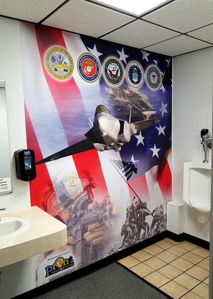 Wall Murals: Custom design. printed and installed - Removable non-residue adhesive material