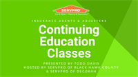 2021 CE Classes for Insurance Agents hosted by SERVPRO