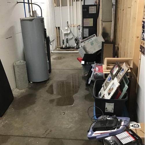Water leak from water heater.