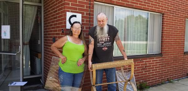 Richard, a veteran and his wife picked up some needed items for their home.