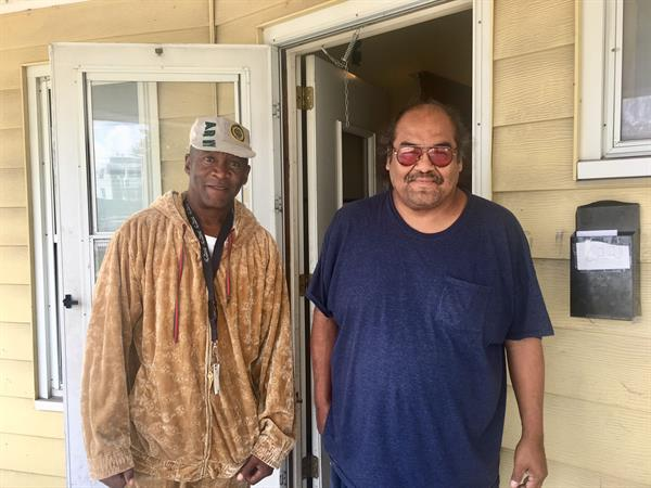 Carnell and Ed from Waterloo, veterans and neighbors who have been assisted by AFIL.