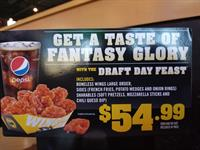 Draft Day Feast Promotion at Buffalo WIld Wings