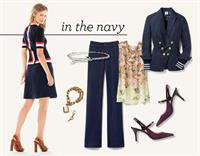 Navy is the new black, and the nod to nautical is now!