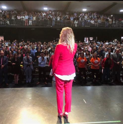 Sharing my story on a Stage in Bogota Colombia