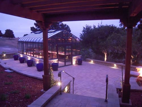 "Custom Design and Build Greenhouse and Outside Living Space ""Stoke Residence"" Monterra Ranch Monterey"