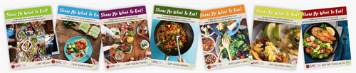 "Free ""Show Me What To Eat"" Guides - just subscribe to our newsletter and you can get these"