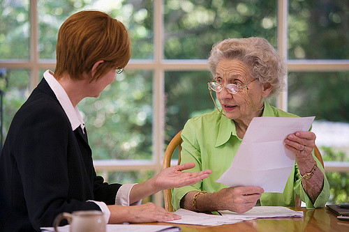 Assistance with mail and bills for elders