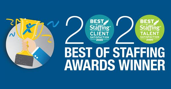 2020 Best of Staffing Awards Winner
