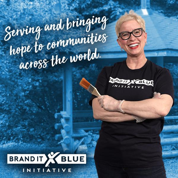 We give back to our community thru Brand It Blue!