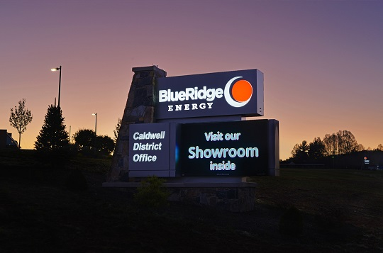 Blue Ridge Energy is located just off Hwy 321 at 100 Cooperative Way in Lenoir to serve electric members and propane and fuels customers.