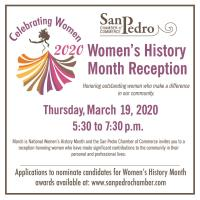 Postponed: San Pedro Chamber Women's History Month Reception