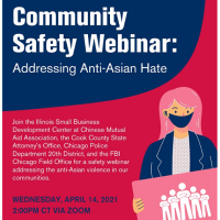 Community Safety Webinar:  Addressing Anti-Asian Hate