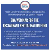 SBA Webinar for the Restaurant Revitalization Fund