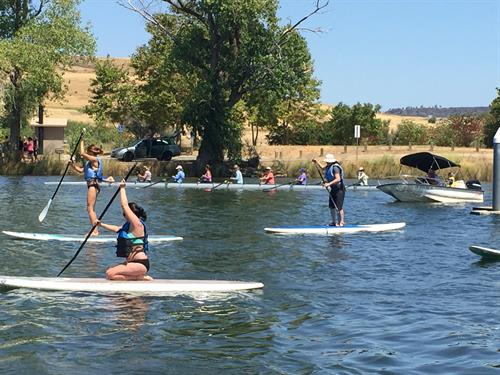 SUPing on the Forebay
