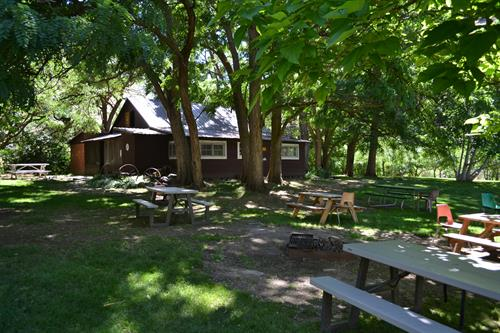 Sheep Creek Historic Cabin - Lunch Stop, Overnight Stop