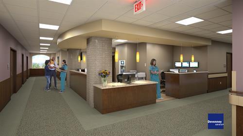 Nurse Station Expansion Rendering