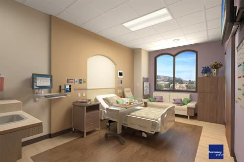 Patient Room 2 Expansion Rendering