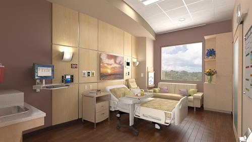 Patient Room Expansion Rendering