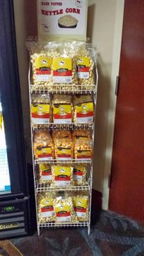 Racks of yummy kettlecorn