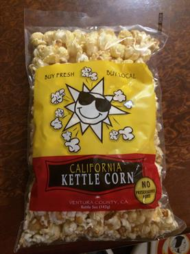 Retail ready shelf stable bagged Kettle Corn