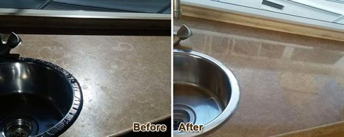 Travertine Before & After