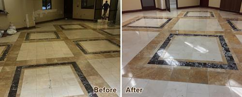 Marble & Travertine Before & After