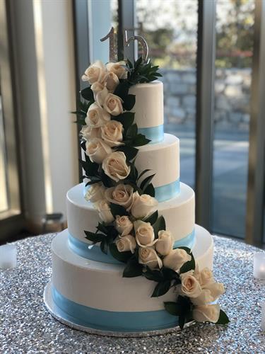 Cascade of Roses Cake