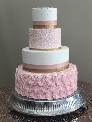 Rosette w/4 tiered