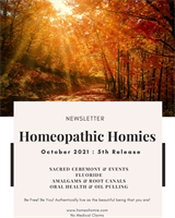 Homeopathic Homies: October 2021 Newsletter