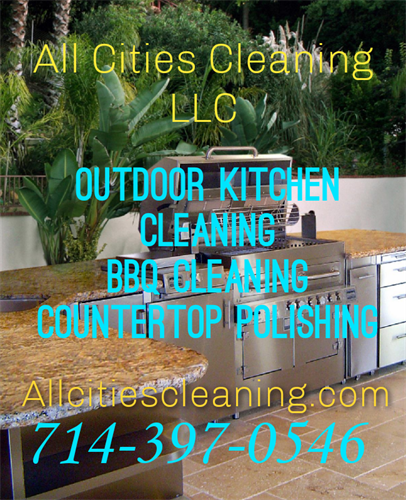 Outdoor kitchen cleaning