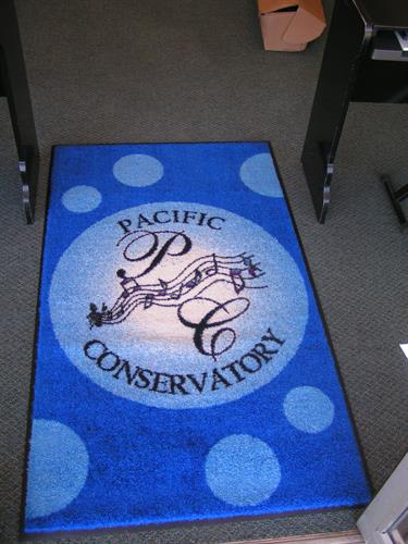 Full color custom rug.