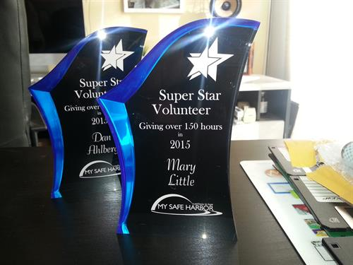 Engraved Acrylic Awards (done in-house)