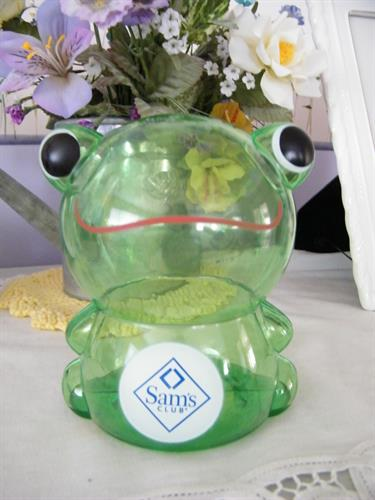 Cute froggy bank, imprinted for Sam's Club